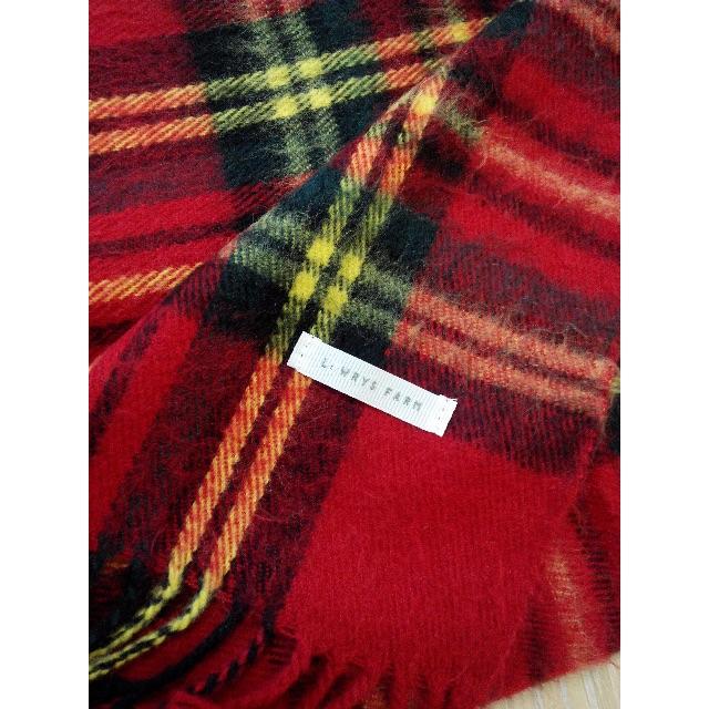 轉賣 Lowrys Farm 經典格紋圍巾 紅格