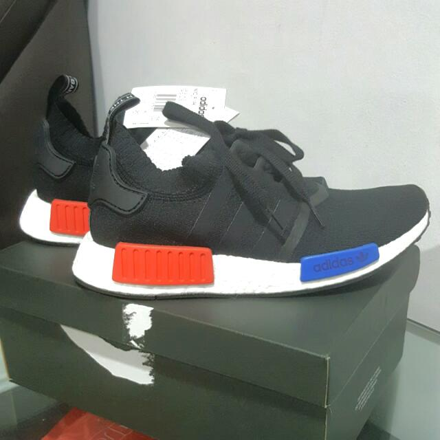 BRAND NEW:ADIDAS NMD Prime knit RUNNER OG 2017(limited Edition)core Blackredblue Uk Size: 7 MEN