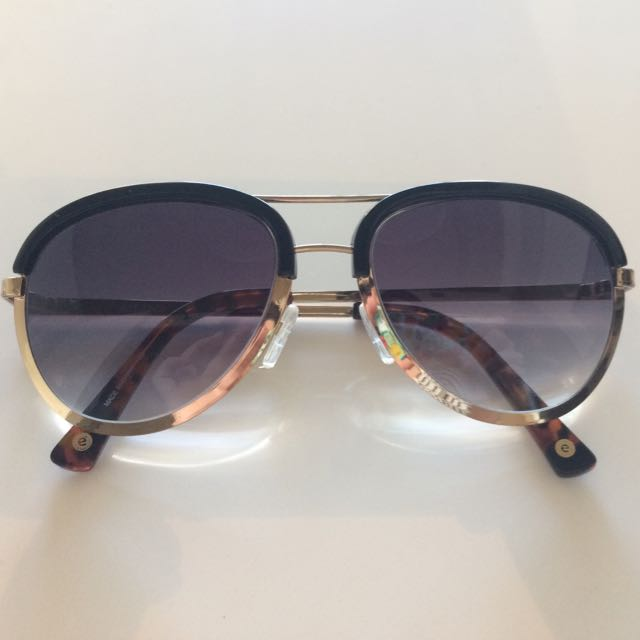 Anthropologie Aviator Style Sunglasses With Gold Accents