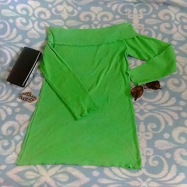 Apple Green Off Shoulder