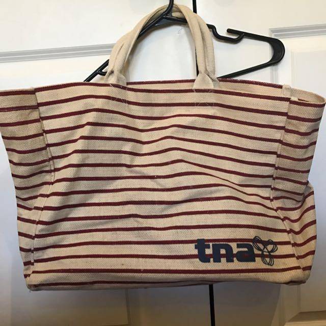 Aritzia TNA Large Straw Overnight Bag
