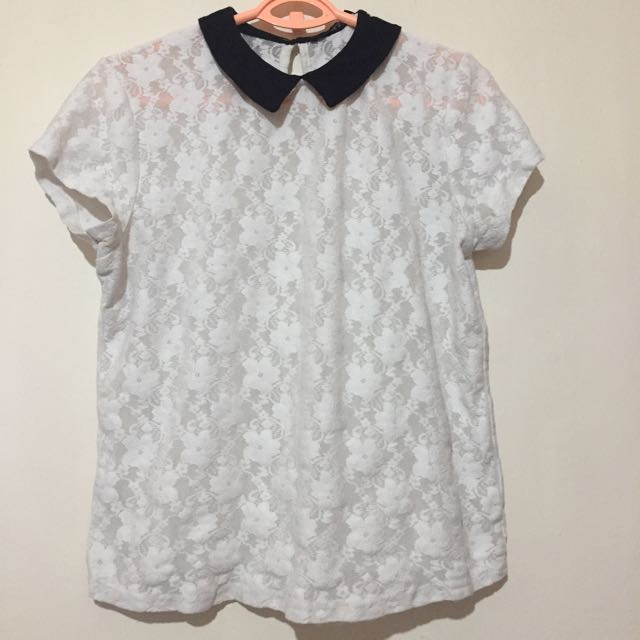 Atmosphere Lace Collar Top