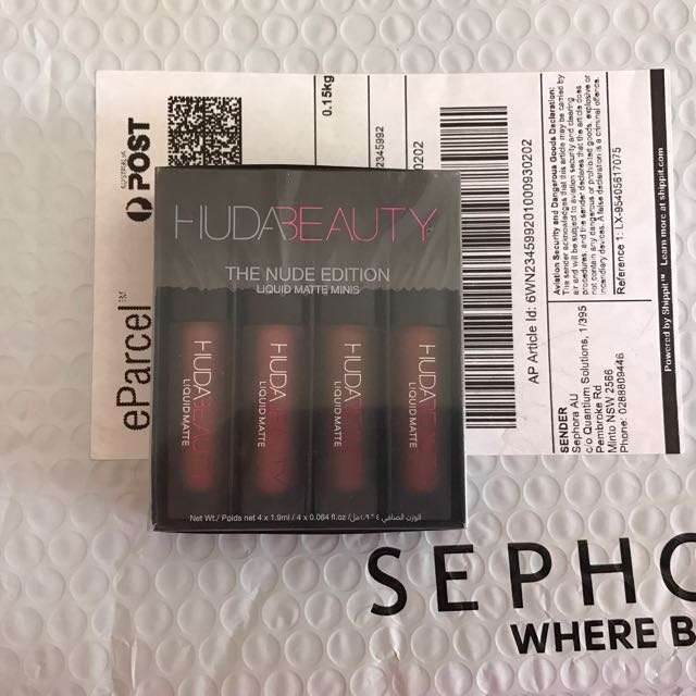 AUTHENTIC Huda Beauty Liquid Lipstick Nude Edition