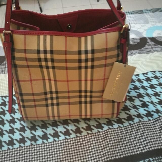 Authorized Burberry Canterbury Check Tote