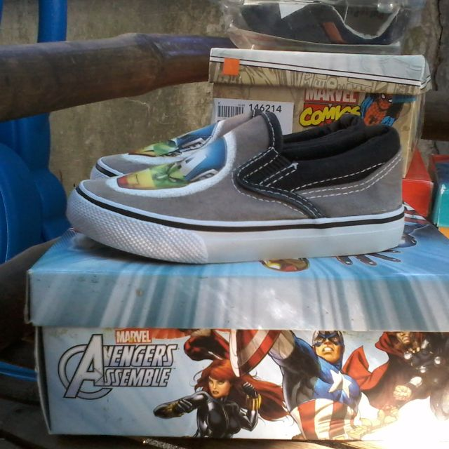 Avengers top sider kids baby shoes