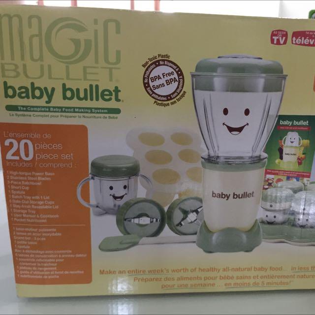 baby bullet magic bullet