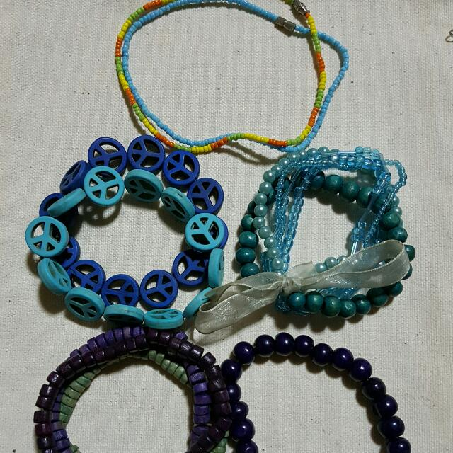 1 Set Beads Bracelets: Cool Swatches