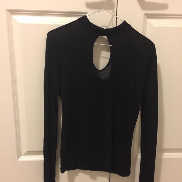 black choker shirt