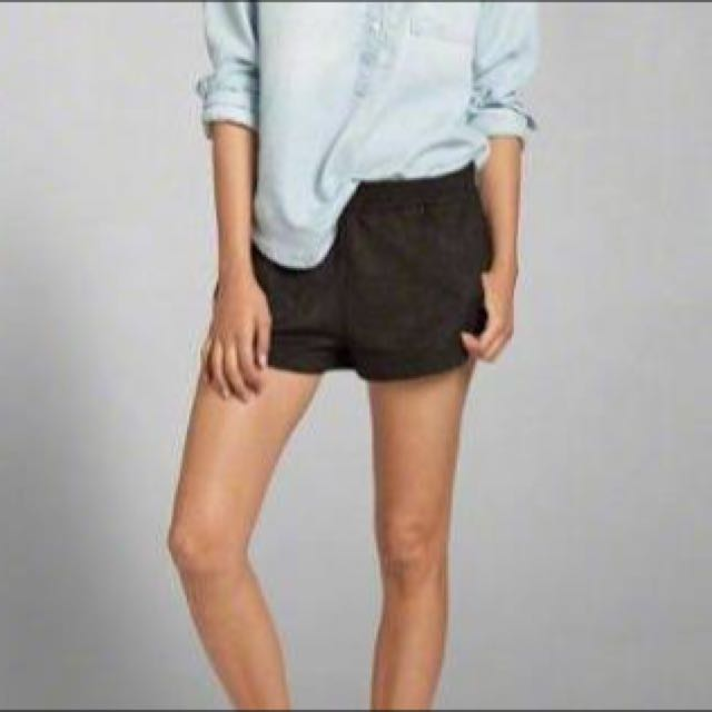 Black Faux Suede Shorts Abercrombie And Fitch