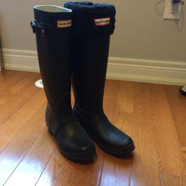Black Women's Hunter Boots Size 9