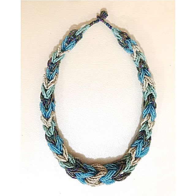 Blue Braided Necklace