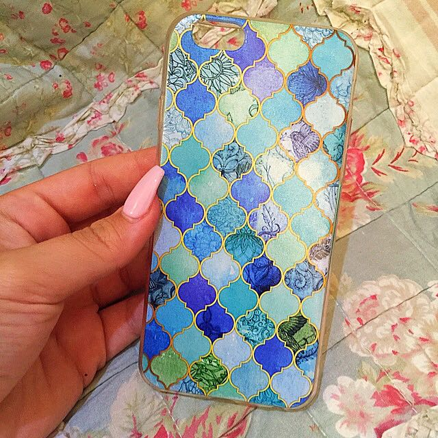 Blue Patterned iPhone Case
