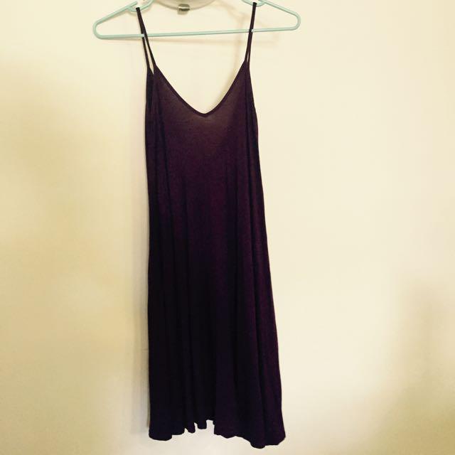 Boohoo Maroon Swing Dress Size 8