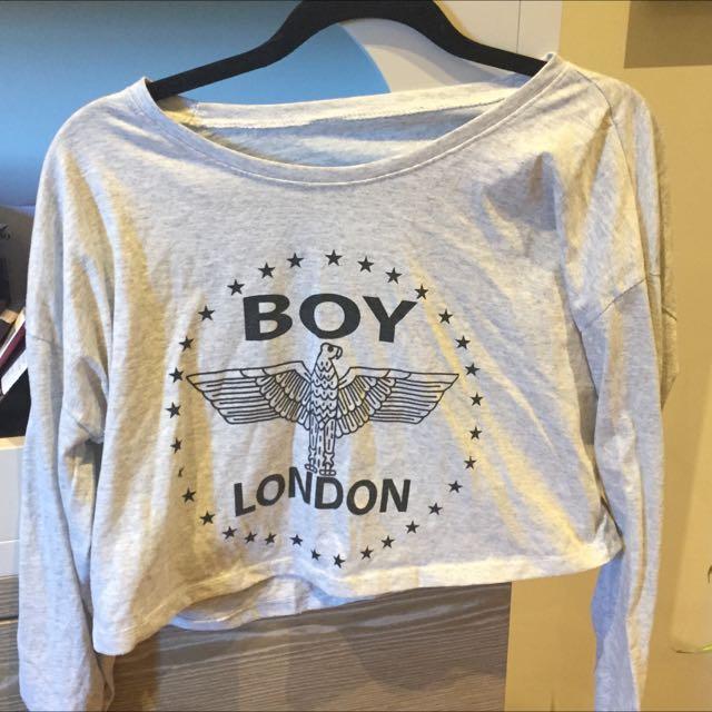 Boy London Long Sleeve Crop Top