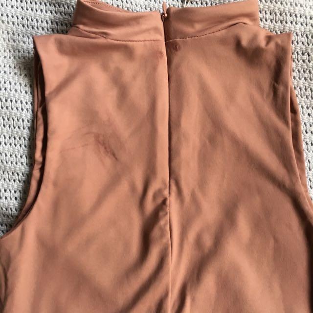Choker Top Dusty Darker Pink Size XS