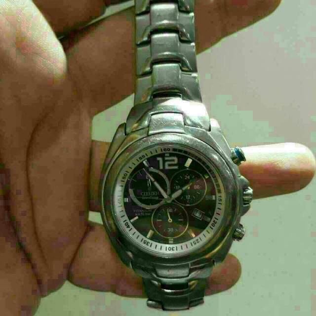 Citizen EcoDrive Titanium Sapphire Solar Watch ($400 Retail)