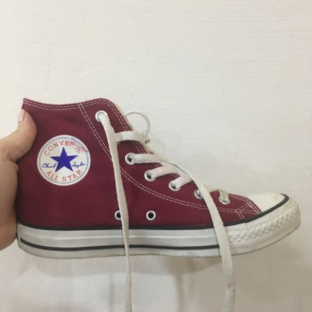 CONVERSE High-cut Maroon