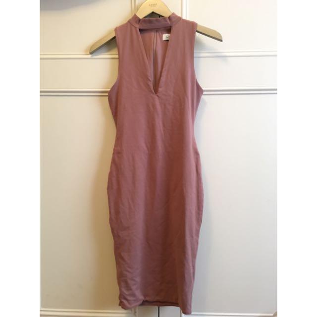 Dark Ginger Bodycon Dress