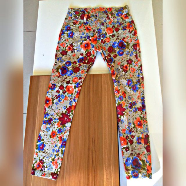 Floral Skinny Jeans (stretchable)