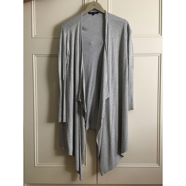 French Connection Grey Waterfall Cardigan