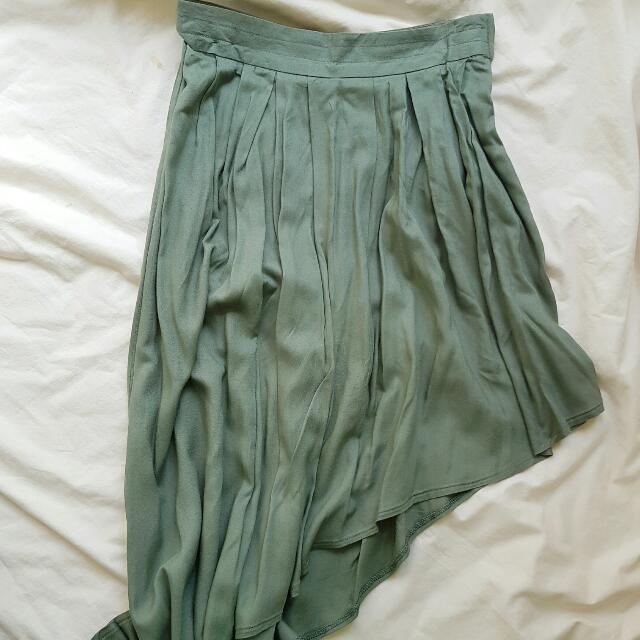 Green Waterfall Skirt (S)