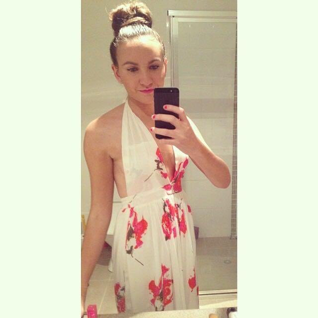 Halter Maxi Dress Size 6