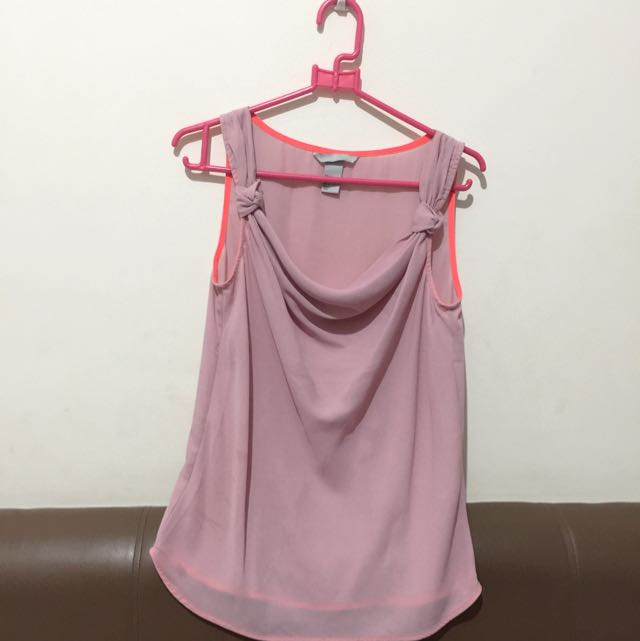 H&M peach pink top limited edition