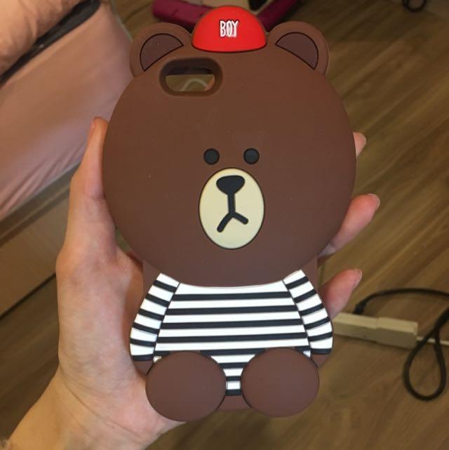 iPhone 6/6s可愛熊大矽膠手機殼