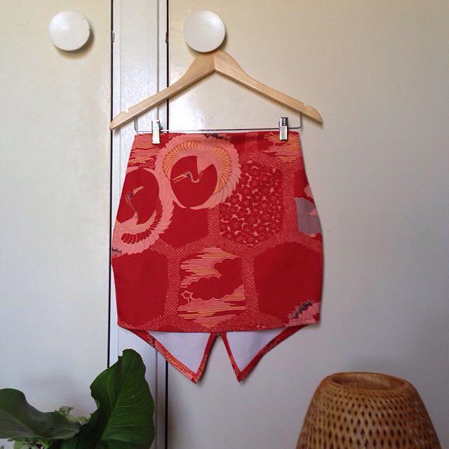 Japanese Print Skirt