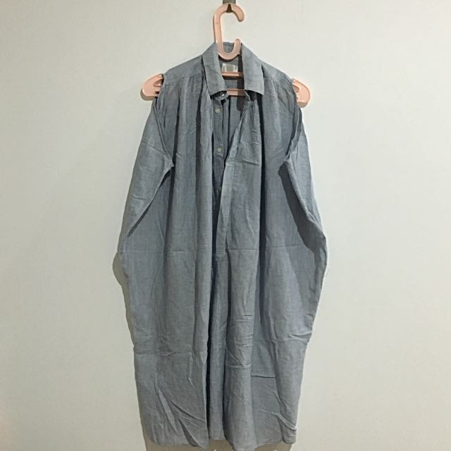 Korean Dress Baby Blue Oversize Oversized Sleveless