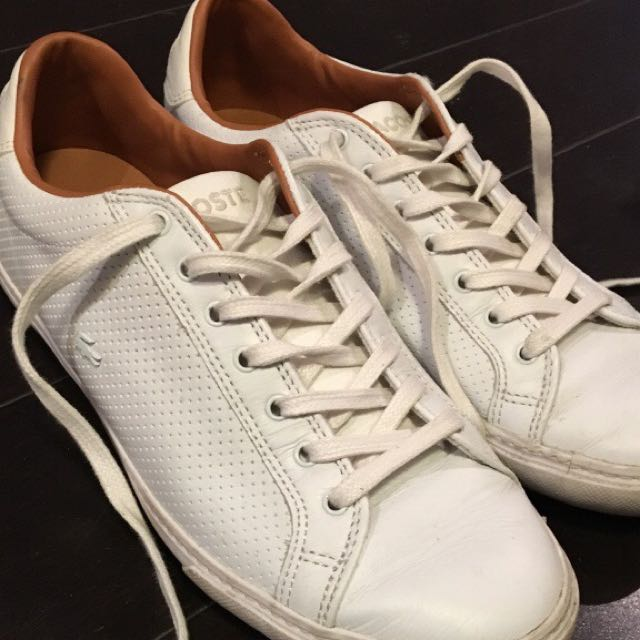 Lacoste White Shoes Size 7.5