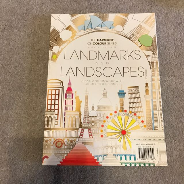 landmarks and landscapes colouring book!