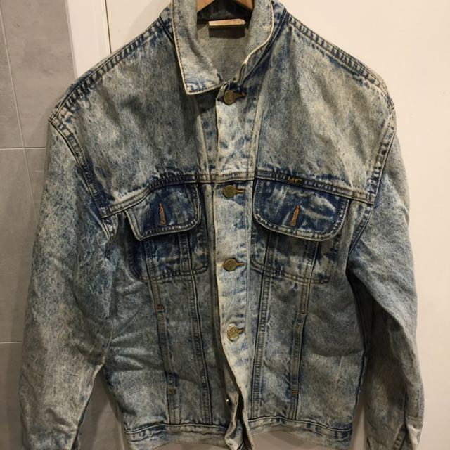 Lee Acid Wash Vintage Denim Jacket