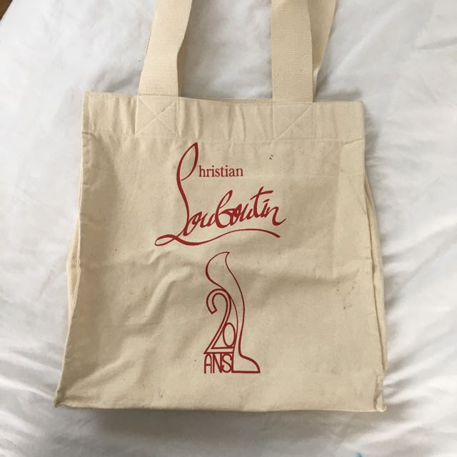 LOUBOUTIN Canvas bag Limited Edition