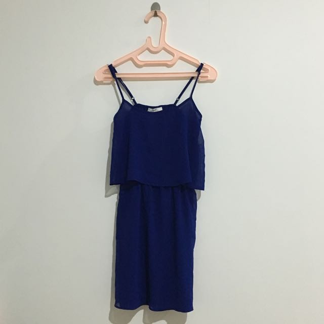 Mango Blue Mini Dress Summer