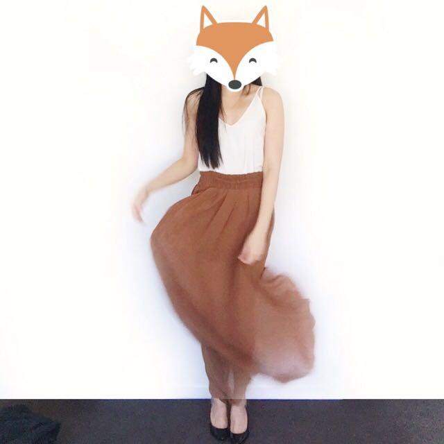 Mango Flare Skirt