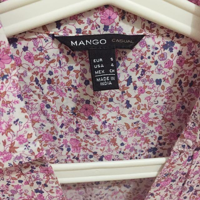 Mango Flowery Casual Shirt