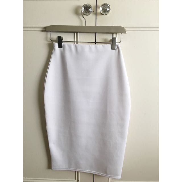 Missguided White Bodycon Skirt Size 6