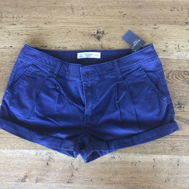 NEW Abercrombie And Fitch Navy Shorts Size 0