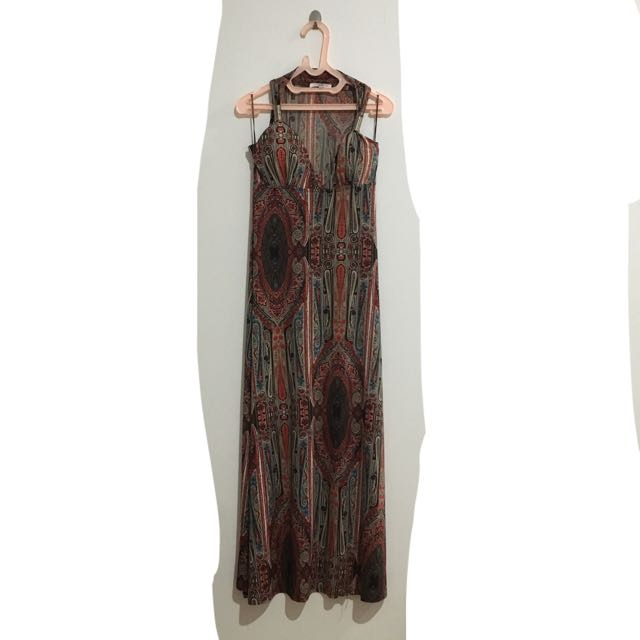 New Look Long Dress Pattern Summer