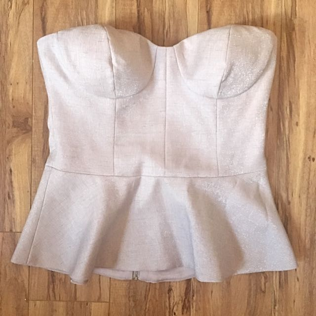 NEW Size Small Strapless Bustier Top