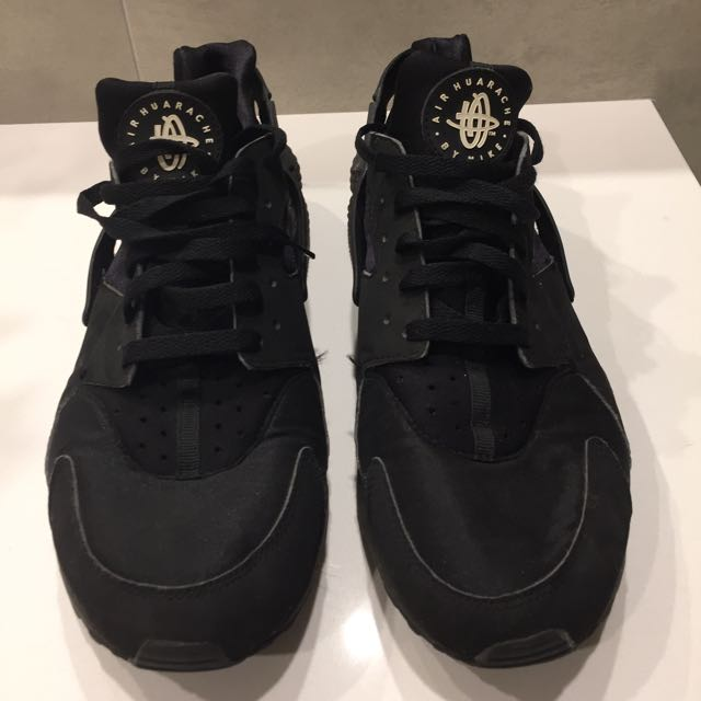 NIKE AIR HUARACHE 'TRIPLE BLACK' US 12