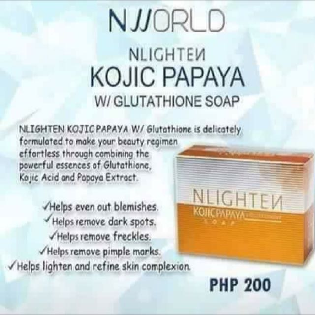 Nlighten Kojic Papaya and Premium soap