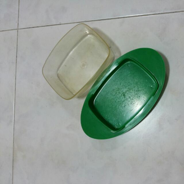 Old Fashion plastic butter container