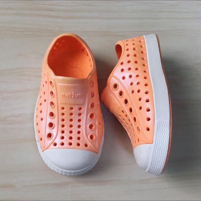 orange native shoes