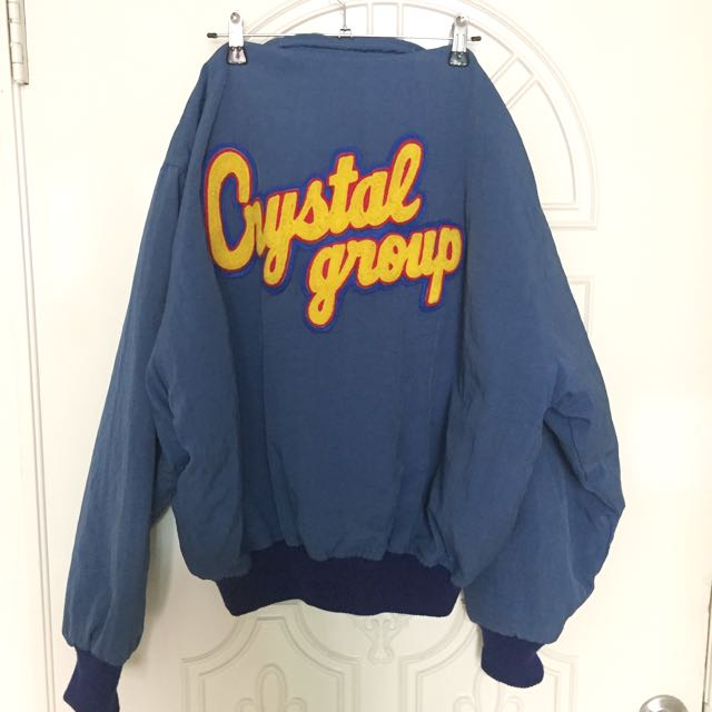藍色古著oversize外套