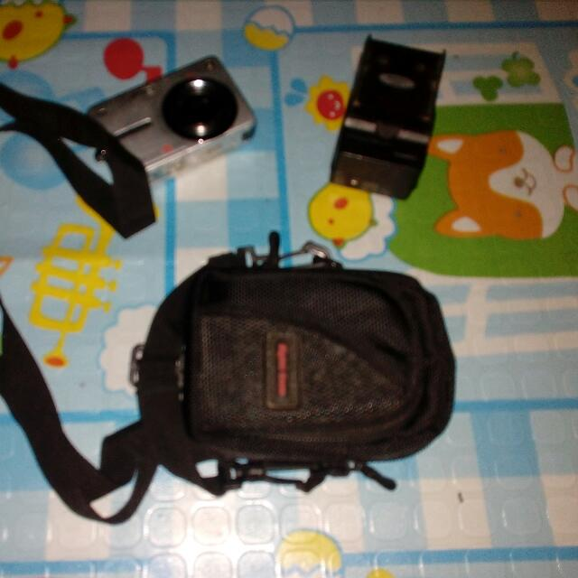 Pentax Digital Camera With Bag And Charger