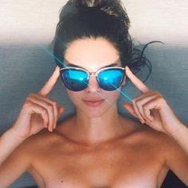 Quay My Girl Sunglasses - Sunnies - Summer, Kylie, Mirrored Cat's Eye