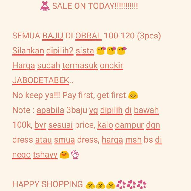 SALE ON TODAY 👗