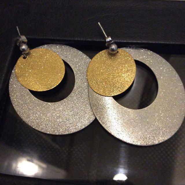 Statement Brass Earrings